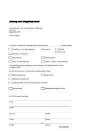 Antrag auf Mitgliedschaft - Innung Sanitär & Heizung Stuttgart