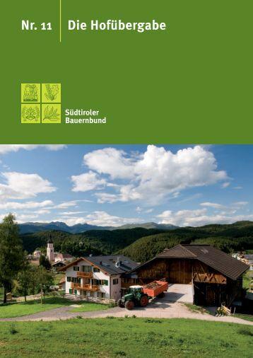 Broschüre - Südtiroler Bauernbund