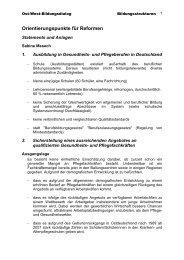 Orientierungspunkte für Reformen - Ost-West-Bildungsdialog