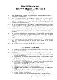 Geschäftsordnung der NVV-Region Ostfriesland
