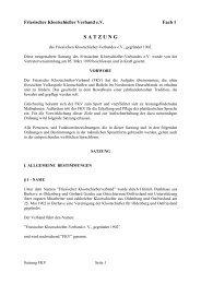 Fach 1 - Satzung vom 07.03.2008 - FKV