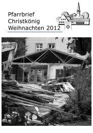 Pfarrbrief Christkönig Weihnachten 2012 - Pfarrei Christkoenig ...