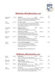 Weinkarte - Hotel Restaurant Inselwirt