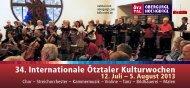 34. Internationale Ötztaler Kulturwochen - BDLO Nord eV