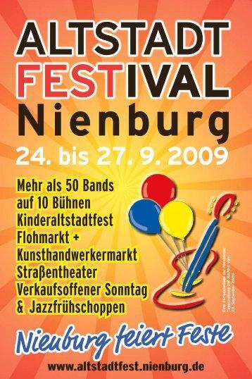 Programm - Altstadtfest Nienburg - Stadt Nienburg/Weser