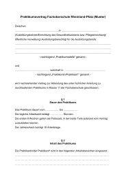 Praktikumsvertrag Fachoberschule Rheinland ... - Realschule plus