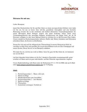 Hochzeitsarrangement (PDF) - Stuttgart Locations