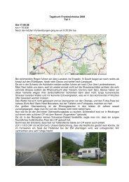 Tagebuch Frankreichreise 2008