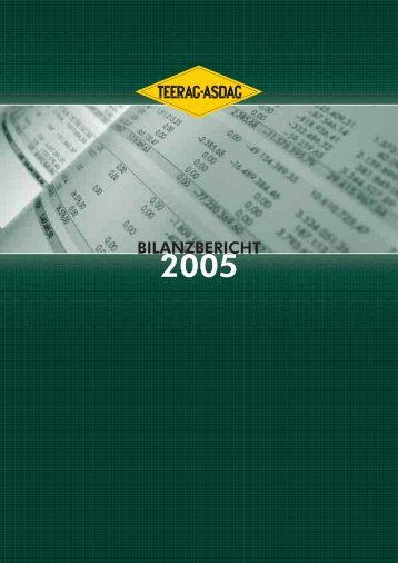 BILANZBERICHT - Teerag Asdag AG