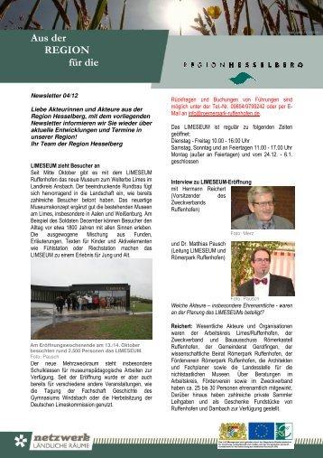 Newsletter 04/2012 - Region Hesselberg