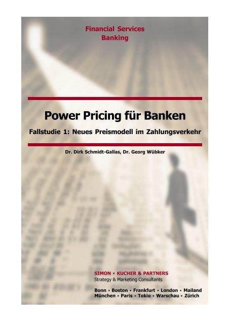 Power Pricing Fur Banken Simon Kucher Partners
