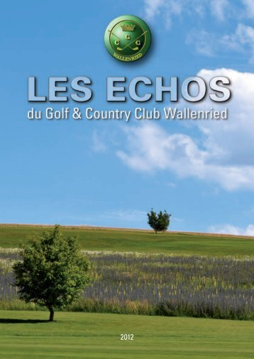 palmares saison 2012 - Golf und Country Club Wallenried