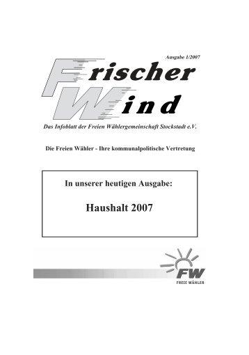 Ausgabe 1/2007 - Freie Wähler Stockstadt