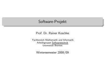 Software-Projekt - Informatik - Universität Bremen