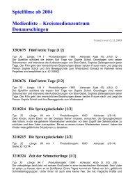Kreismedienzentrum Donaueschingen - Medienliste