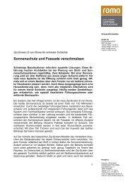 Sonnenschutz und Fassade verschmelzen - PR Agentur Trostner ...