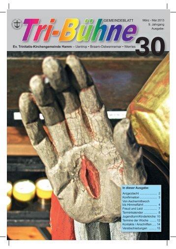 Tri-Bühne Nr. 30, März - Mai 2013 - Evangelische Trinitatis ...