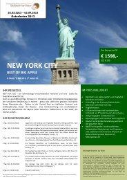 NYC Programm Ostern 2013 - StolzlechnerVision