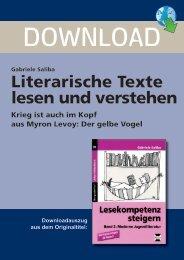 Literarische Texte lesen und verstehen - Persen Verlag