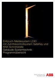 Programmübersicht Einbruch-Meldesystem L240