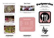Partyservice - Flyer