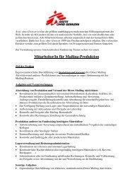Mitarbeiter/in für Mailing-Produktion - Ärzte ohne Grenzen