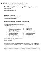 Amphibien-Zugstellen mit Rettungsaktionen / provisorischen ... - Karch