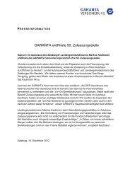 GARANTA eröffnete 50. Zulassungsstelle - Garanta Österreich ...