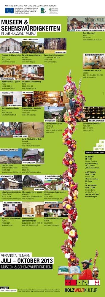 Museen & sehenswÜrdigkeiten - Holzweltkultur