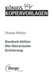 Deutsch-Abitur: Die literarische Erörterung - School-Scout