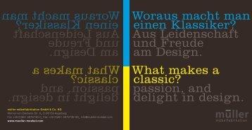 Woraus macht man einen Klassiker? Aus Leidenschaft ... - Domain
