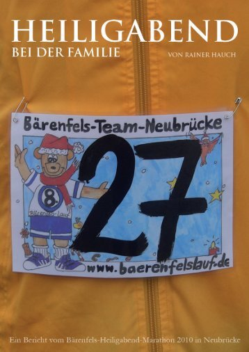 Bericht vom Heiligabend Marathon 2009 - Rainer Hauch Running