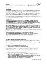 Merkblatt FTC zur Übergabe an den Probanden ... - (FTC) München
