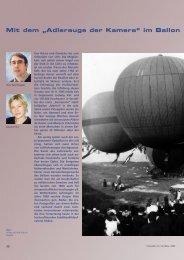 """Mit dem """"Adlerauge der Kamera"""" im Ballon - Carl Zeiss"""