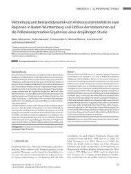 Verbreitung und Bestandsdynamik von Ambrosia artemisiifoliain ...