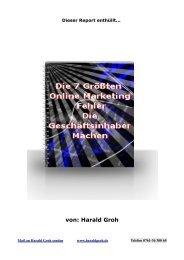 Harald Groh - Freiburg Internet Werbung & Lokales Online Marketing