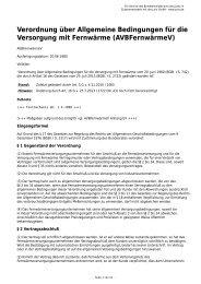 AVBFernwärmeV - Gesetze im Internet