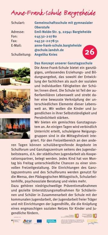 Anne-Frank-Schule Bargteheide - Ganztägig Lernen
