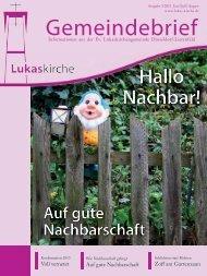 Gemeindebrief - Ev. Lukaskirchengemeinde