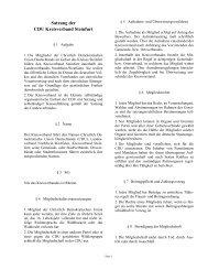 Satzung der - CDU Kreisverband Steinfurt