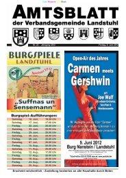 Burgspiel-Aufführungen: - Verbandsgemeinde Landstuhl