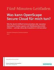 Was kann OpenScape Secure Cloud für mich tun? - Siemens ...