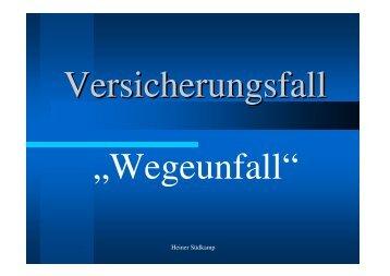 PowerPoint - Wegeunfall - Kreisfeuerwehrverband Vechta