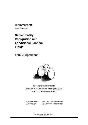 Diplomarbeit Named Entity Recognition mit Conditional ... - SFB 876