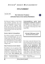 Der Schweizer Franken - Invico Asset Management