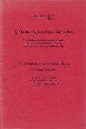 Gerhard Ott: Zur Entstehung der prismatischen ... - Farben-Welten