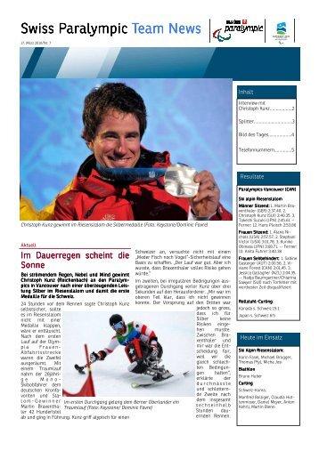 Paralympic News Nr. 7 (pdf 2 MB) - PLUSPORT Behindertensport ...