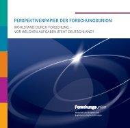 Perspektivenpapier der Forschungsunion 2013 (PDF, 1,5 MB) - Die ...