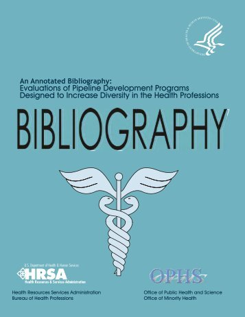 An Annotated Bibliography - Bureau of Health Professions