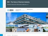 BDI The Voice of German Industry